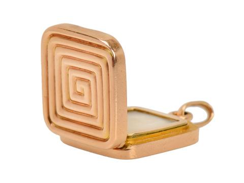 Hidden Memories - Art Deco Locket Pendant