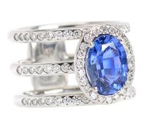 Modern Art - Sapphire Diamond Ring