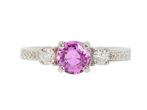 In the Pink - Sapphire Diamond Engagement Ring