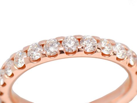 For Eternity - Rose Gold Diamond Wedding Ring
