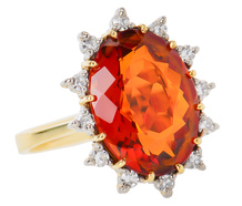 Autumnal Changes - Madeira Citrine Diamond Ring