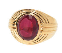Powerful Jones & Woodland Garnet Ring