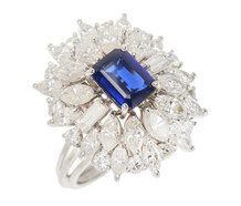 Dance On - Sapphire Diamond Signature Ring
