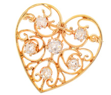 Heart of Mine - Edwardian Diamond Pendant