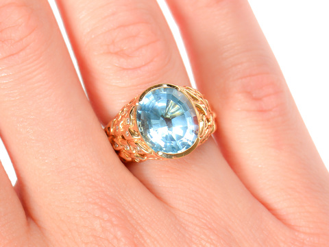 Sky's Limit - Blue Topaz Estate Ring
