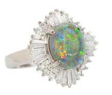 Ode to Joy - Opal Diamond Ballerina Ring