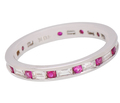 Alternating Diamond Ruby Eternity Ring