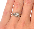 Vintage Solitaire Diamond Engagement Ring