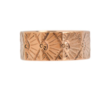 Fan Fair - Victorian Rose Gold Wedding Band
