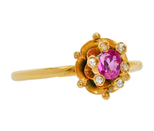 Petit Point - Victorian Ruby Diamond Ring