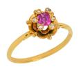 Petit Point - Victorian Ruby Diamond Ring