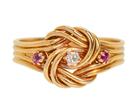 Edwardian Lover's Knot Antique Ring