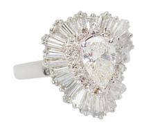Undulating Rhythm - Diamond Ballerina Ring
