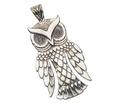 Vintage Reed & Barton Silver Owl Pendant