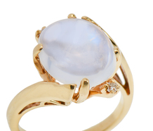 Harmony - Blue Moonstone Diamond Ring