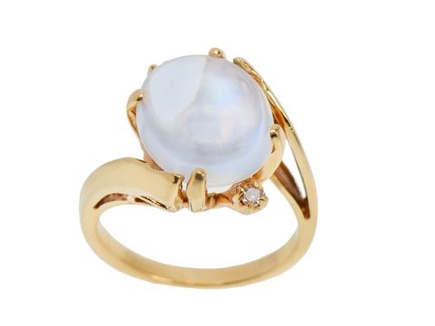 Harmony - Blue Moonstone Diamond Ring