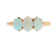 Edwardian Triple White Opal Ring