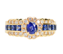 Tailored Sapphire Diamond Ring
