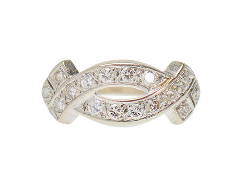 With a Twist - Diamond Wedding Band