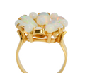 Dreamy Opal Flower Cluster Ring