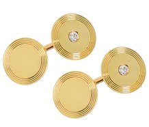 Smashing Diamond Set Gold Cufflinks