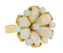 Dreamy Opal Flower Cluster Ring