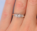 Your Big Day - Three Diamond Engagement Ring