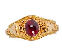 Bacchanalian Days - Edwardian Garnet Ring