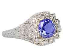 Treasured Tanzanite Diamond Ring