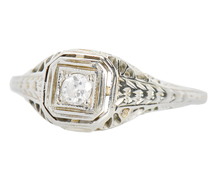 Simply Engaging Vintage Diamond Ring