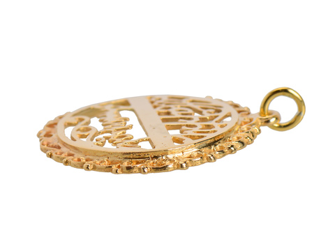 Vintage Happy Anniversary 14k Gold Charm