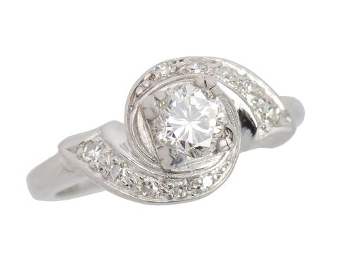With a Twist - Mid Century Diamond Ring