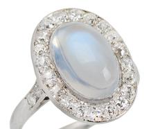 Northern Lights - Blue Moonstone Diamond Ring