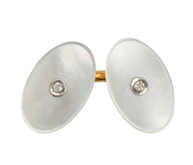 Art Deco Diamond Mother of Pearl Cufflinks