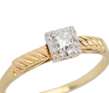 Two Come Together - Old European Diamond Ring