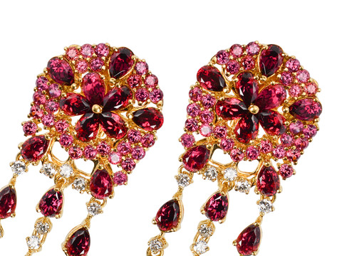 Syncopated Rhythm Estate Tourmaline Earrings