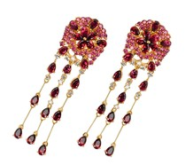 Syncopated Rhythm Estate Tourmaline Earrings