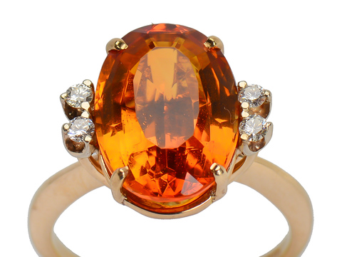 Syncopation - Modernist Citrine Diamond Ring
