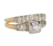 Vintage Two Tone Wedding Set