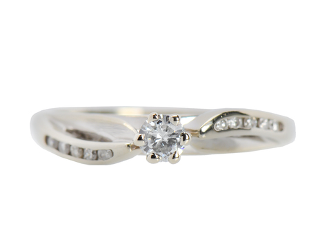 Two as One Diamond Engagement Ring
