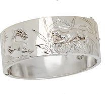 The Stag & The Jag - Victorian Bangle Bracelet