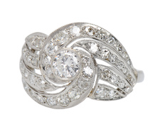 Envelop Me - Diamond Swirl Ring