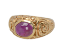 Edwardian No Heat Star Ruby Ring