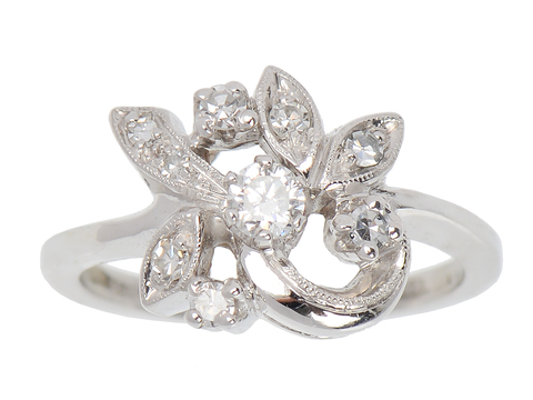 Signs of Spring - Diamond Flower Ring