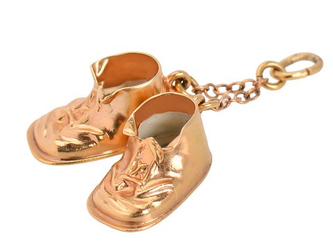 Sweet Baby Shoes Pendant Charm