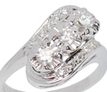 Sensual Curves - Diamond Estate Ring