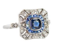 The IT Ring - Sapphire & Diamond Ring