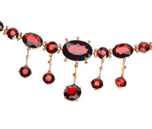 Hot Spice - Garnet Fringe Necklace