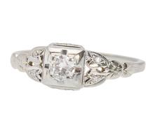 Mid Century Diamond Engagement Ring