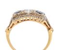 Unique Sapphire Diamond Two Tone Ring
